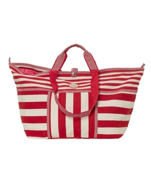 Kleine Shopper Stripes Rood