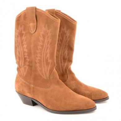 Aba Suede High Boot Cognac F15