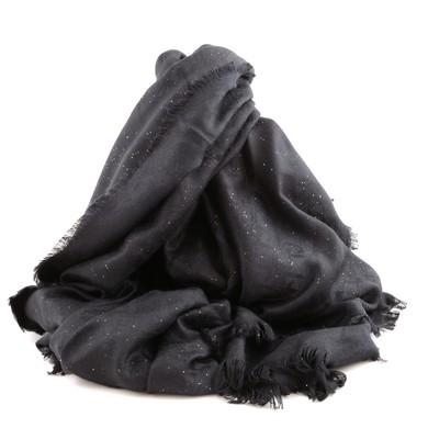 Stola Jacquard Black