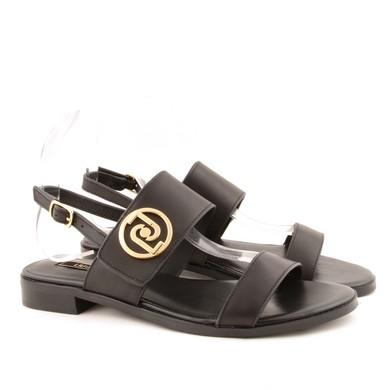 Erin Sandal Calf Leather Black D74
